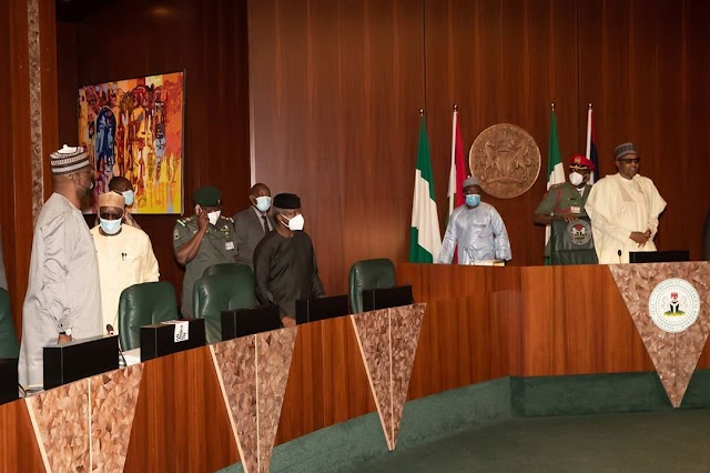 Photos from the Federal Executive Council meeting presided over by President Buhari on Wednesday