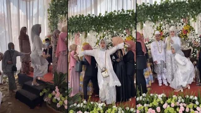 Viral Cewek Berjilbab Joget Heboh Bikin Rusuh Pernikahan