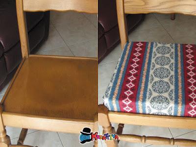 il prima e dopo della seduta della sedia