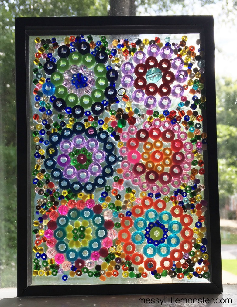 Kandinsky circles bead craft. Exploring famous artists for kids.