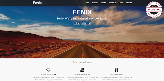 Fenix Creative Premium Blogger Template