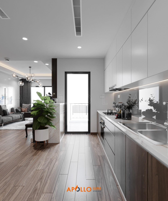 Thiết kế phòng bếp phong cách Minimalism căn hộ Hinode City