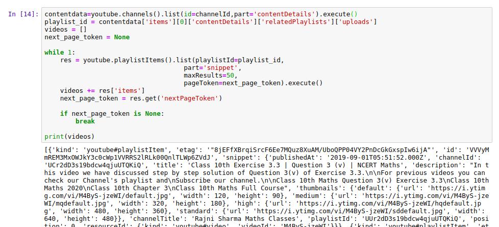 Extracting YouTube Data With Python Using API