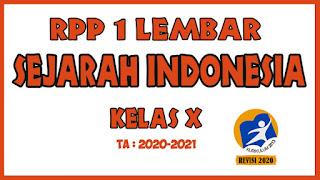 RPP 1 Lembar Sejarah Indonesia Kelas X KD 3.8 - 4.8