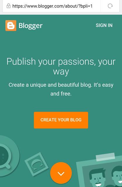 Login Blogger atau Blogspot