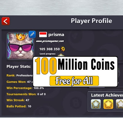 Free 8 ball pool coins