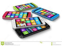 Smartphones of different companies