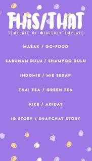 Cara Membuat This or That Instagram