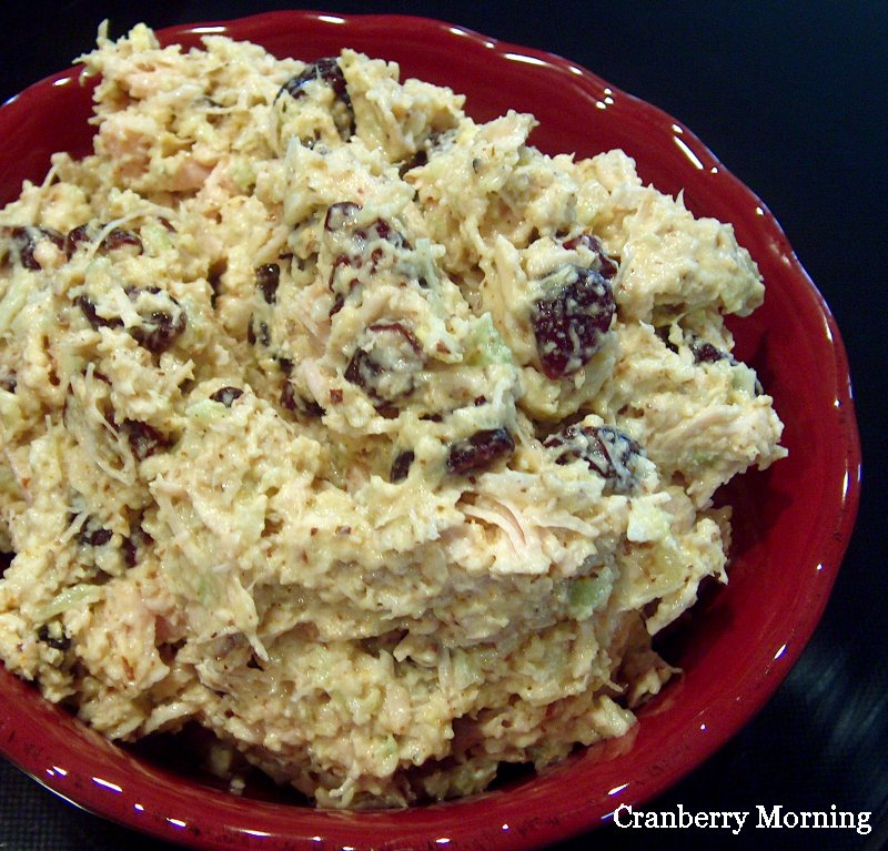 Cranberry Morning Curry Chicken Salad Recipe With Dried
