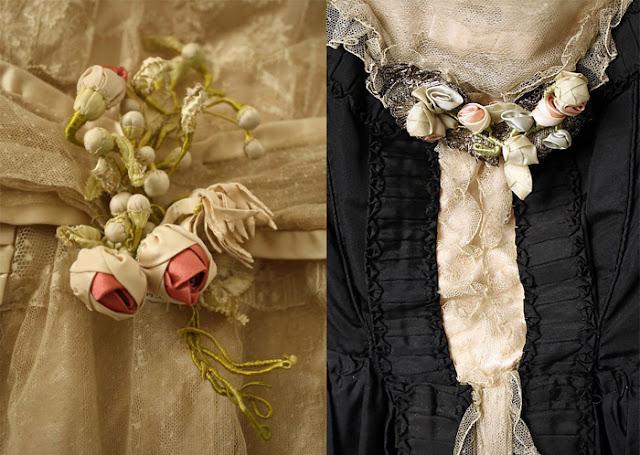 Detalhes da decoração do vestido