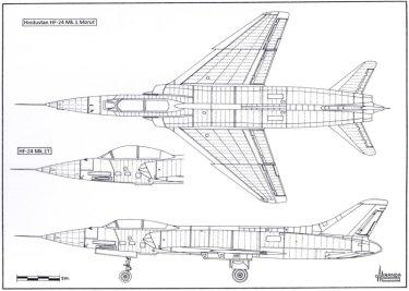 HF-24 Marut Aircraft Indian Air Force IAF - 011 - TN