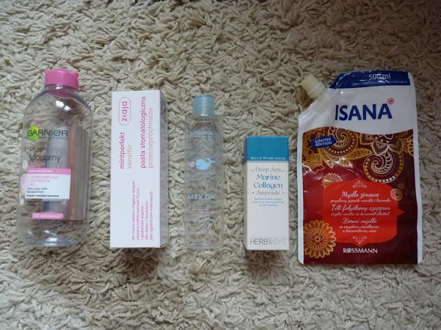 Kosmetyki, które ostatnio zużyłam -  styczeń i luty