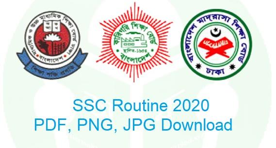 SSC Routine 2020, SSC Routine 2020 Publish Date, SSC Routine 2020 PDF, SSC Routine 2020 PNG