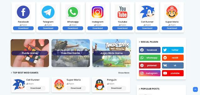 أفضل قالب بلوجر لعرض تطبيقات والعاب الاندرويد وعمل متجر إحترافي apk