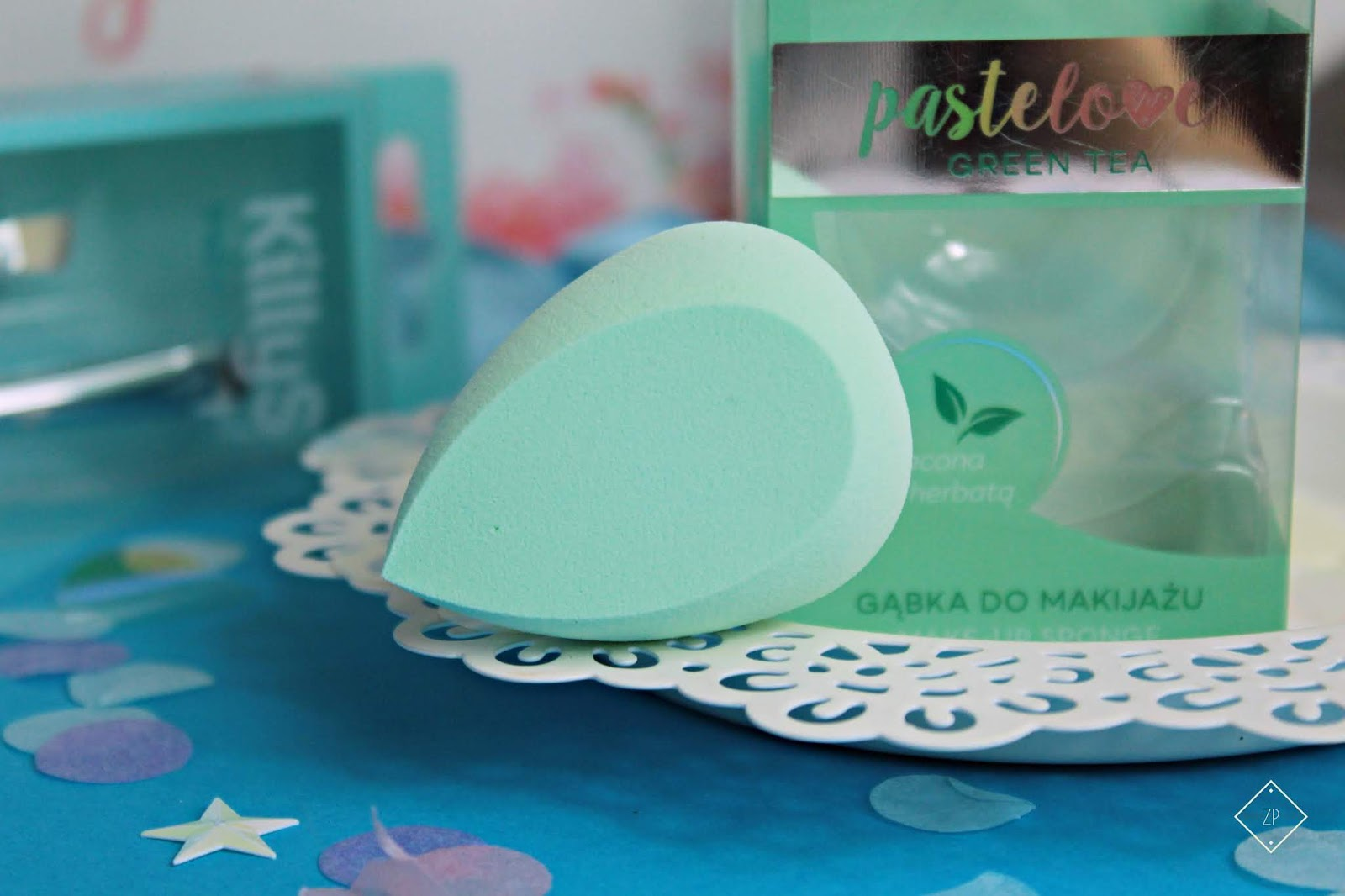 killys pastelowe gąbka z zieloną herbatą