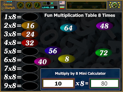 Multiplication Table 8 Times