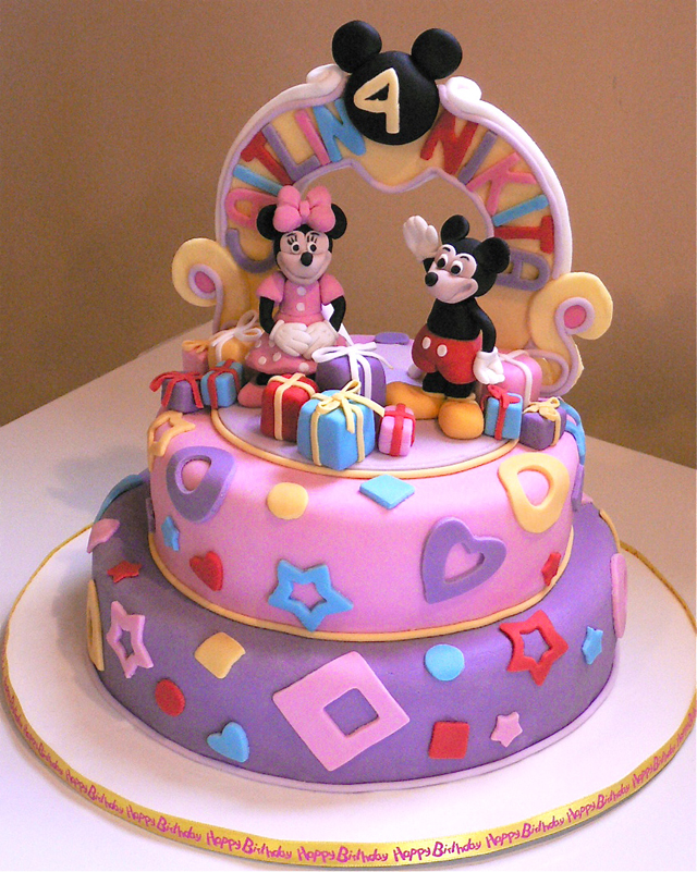 Fantastic Mickey And Minnie Mouse Cake Ideas Personalised Birthday Cards Veneteletsinfo