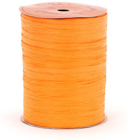 Best Orange Raffia Ribbon For Gift Wrap Craft Packaging and Decoration