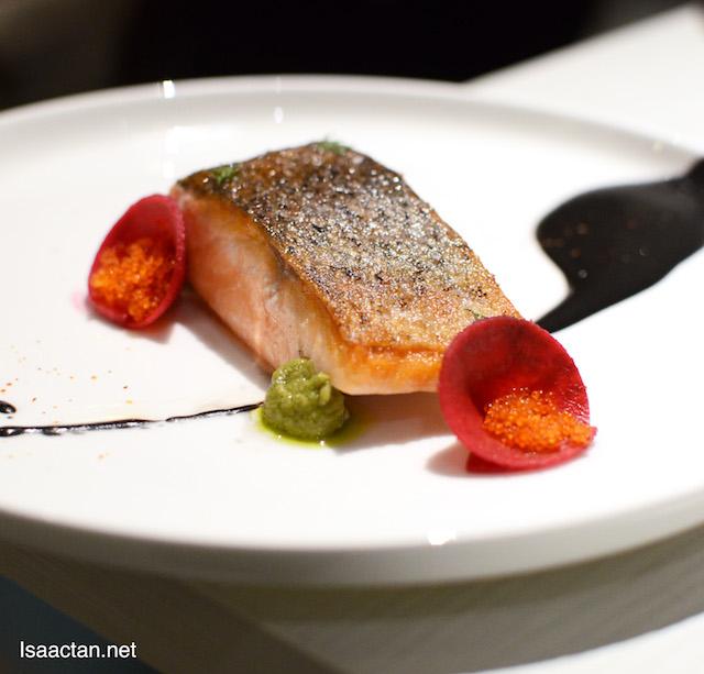 Salmon with Jet Black Hollandaise