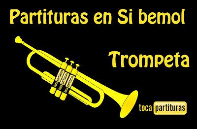 """Partituras de Trompeta y Fliscorno en Si Bemol """"1000 Partituras Musicales para tocar con tu Violín"""" tocapartituras.com"""