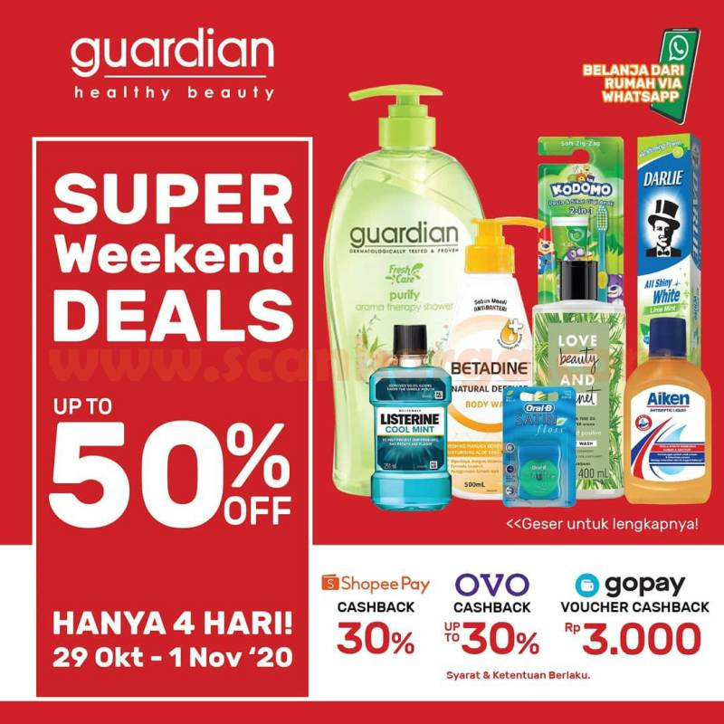 Promo Guardian Weekend Super Deals 29 Oktober - 1 November 2020