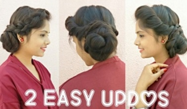 2 Easy Messy Bun Updo Hairstyles