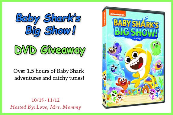 Baby Shark's Big Show DVD Giveaway