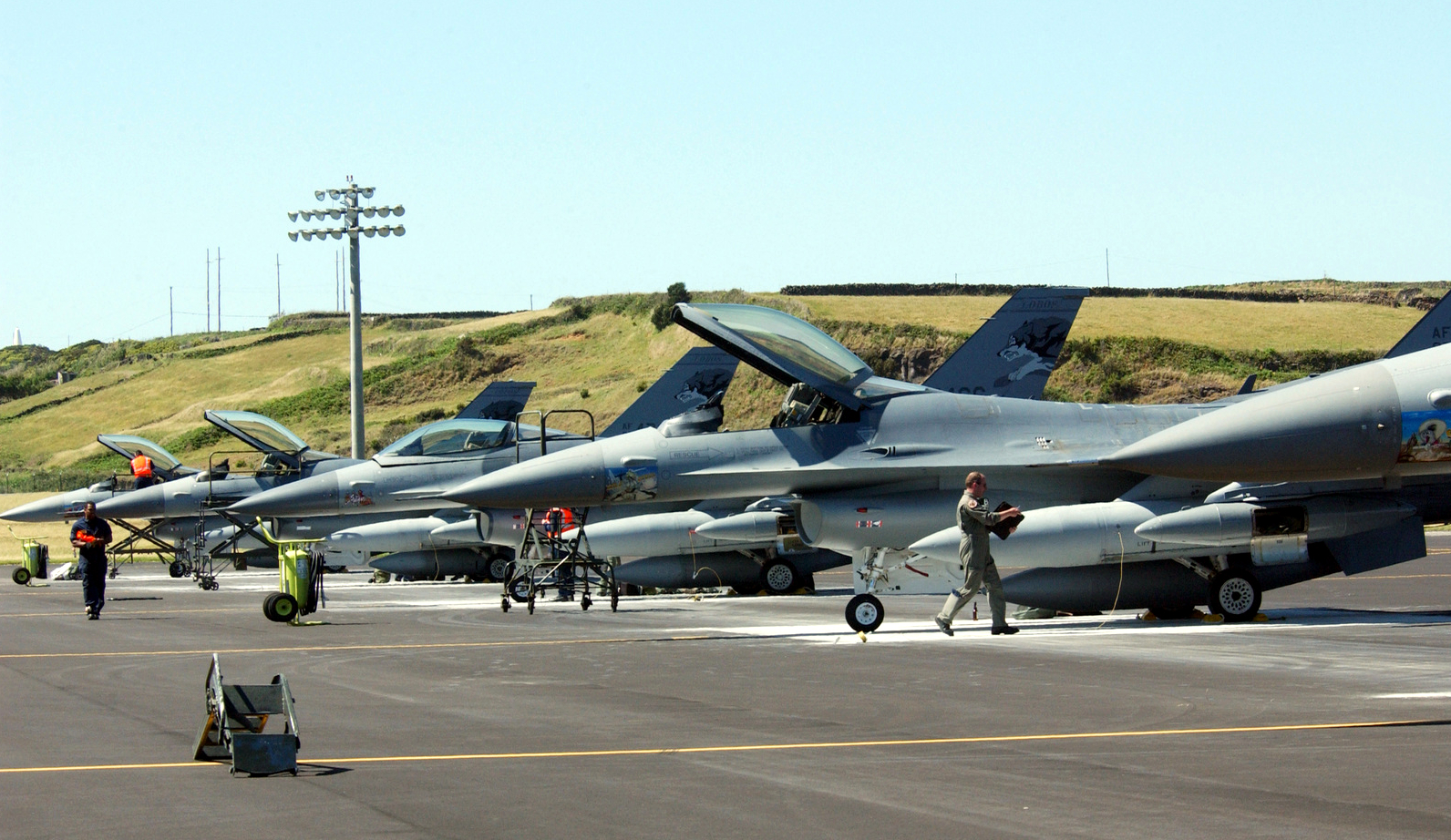 F-16 Fighting Falcon at Lajes Field After Israel Deployment