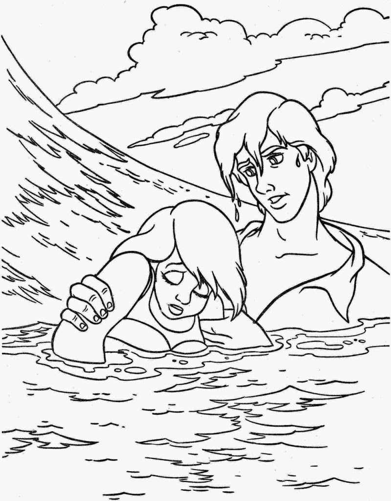 Coloring pages ariel the little mermaid free printable for Mermaid coloring pages online