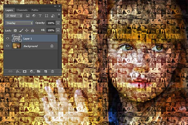 Set the blend mode and opacity.