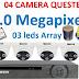 Trọn bộ camera AHD Questek QTX-6104AHD 1.0 Mpx