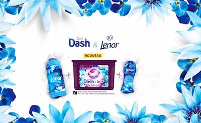Lessive Dash et Lenor