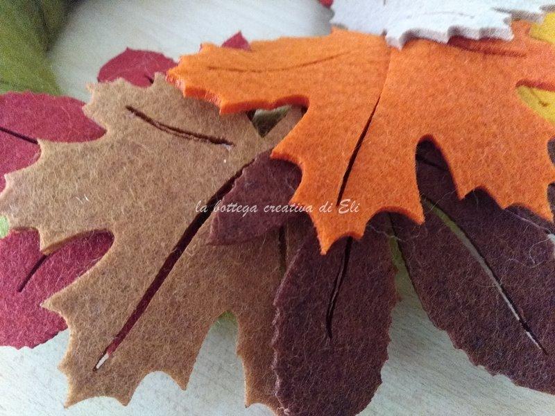 fuoriporta autunnale con foglie in feltro