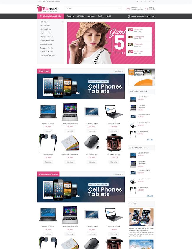 Bizmart E-commerce Blogger template