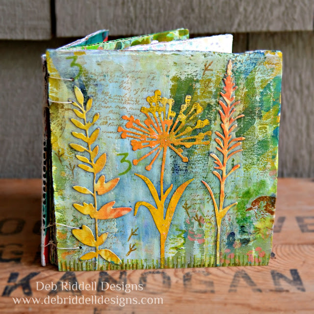 Spring Corrugated Cardboard Art Journal