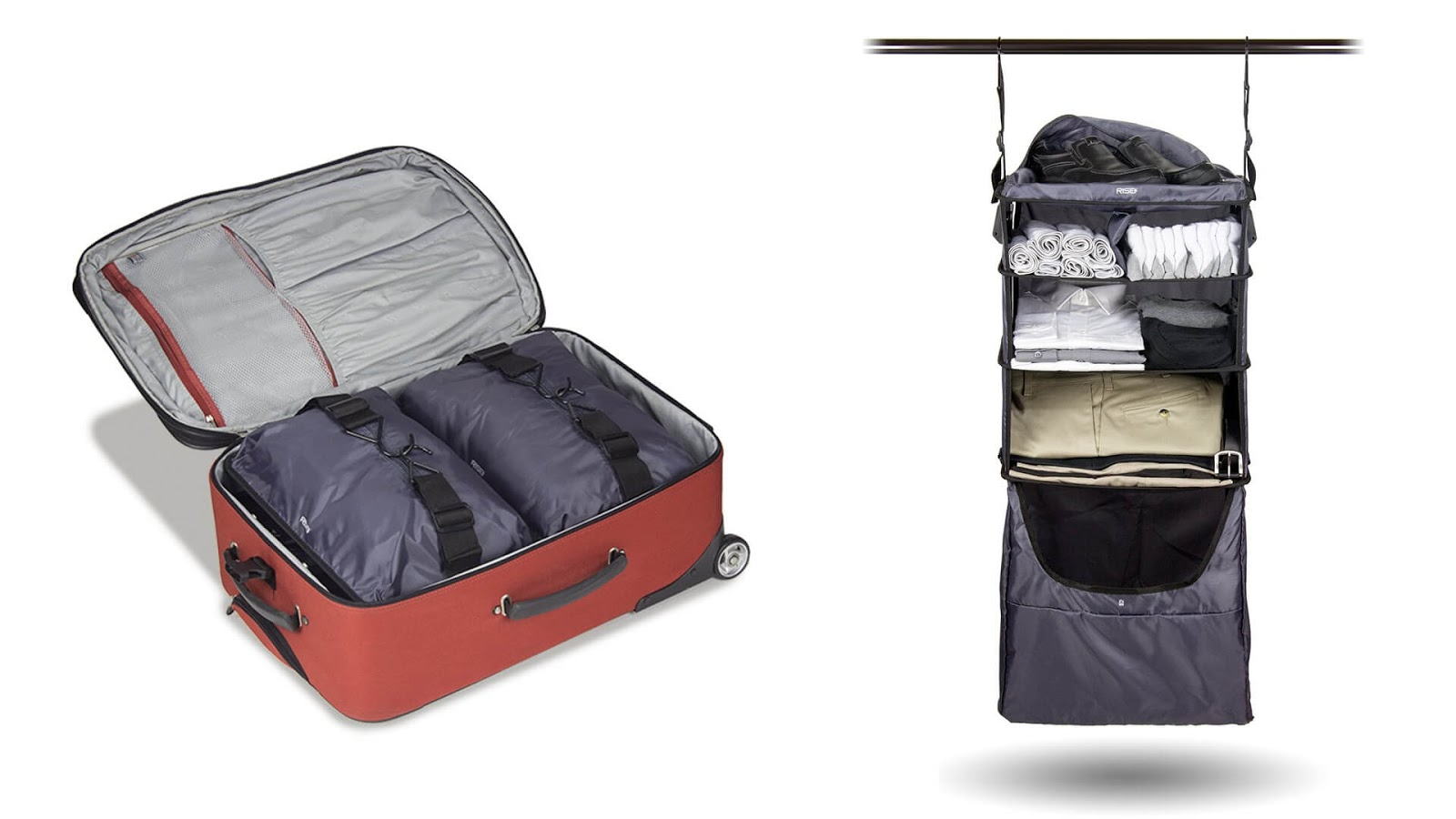 Katlanabilir bir elbise rafı ile bütün valiz hazırlama problemlerinize çözüm bulabilirsiniz