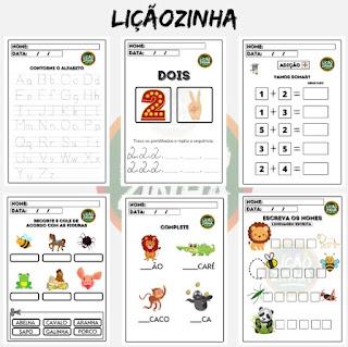 exemplos de atividades de alfabetização - liçãozinha