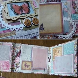 скрап,миник,альбом,странички,разворот,графика,скрапберрис,бабочка,ткань,обложка