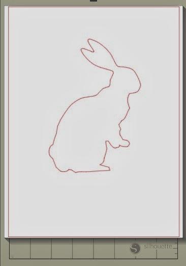 Cut, oversized, stencils, Silhouette, Silhouette Studio, bunny