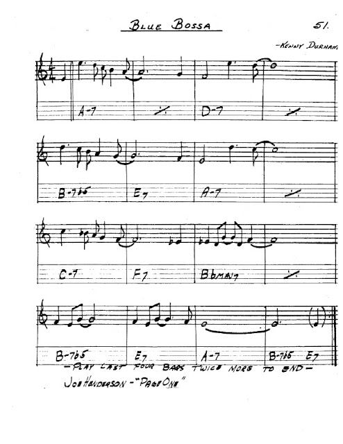 Partitura Saxofón Kenny Dorham