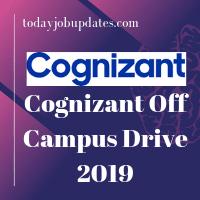 Cognizant Off-Campus Drive 2019