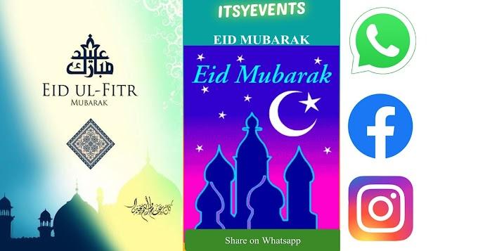 Wish Eid Ul Fitr through WhatsApp.