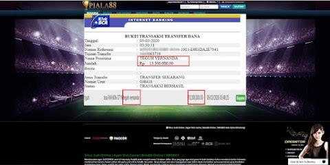 Selamat Kepada Member Setia PIALA88 Withdraw RP 13.300.000