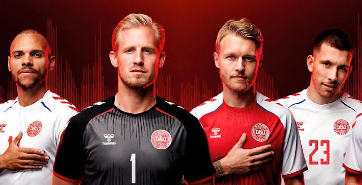 Denmark Euro 2020 Home, Away & Goalkeeper Kits Released - Footy Headlines
