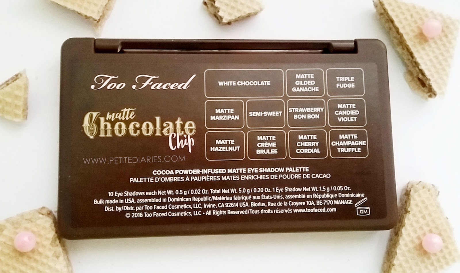 review toofaced matte chocolate chip