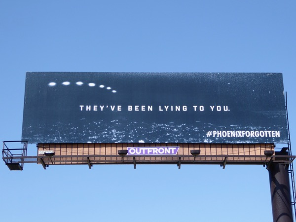 Phoenix Forgotten UFO lights billboard