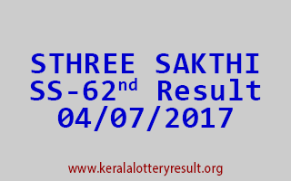 STHREE SAKTHI Lottery SS 62 Results 4-7-2017