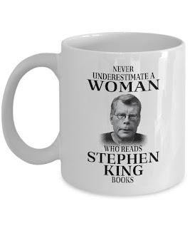Stephen King, Never Underestimate a Woman, Coffee Mug, Stephen King Coffee Mugs, Stephen King Store