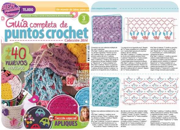 revistas ganchillo, puntos crochet, guías tejedoras