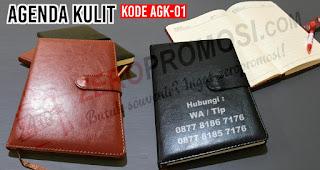 Souvenir agenda AGK-01, buku agenda kulit promosi,  Paket Seminar Kit Buku Agenda